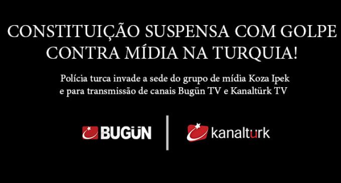 Constituição suspensa com golpe contra mídia na Turquia