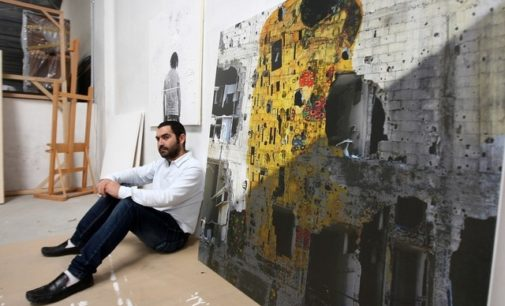 tammam azzam freedom graffiti