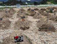 Refugiados são enterrados em cemitério na Turquia
