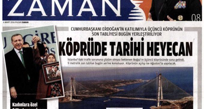Sob intervenção, jornal turco que fazia críticas ao governo passa a elogiá-lo