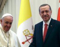 Presidente da Turquia debate crise em Jerusalém com o Papa