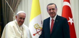 Erdogan e papa Francisco conversam por telefone sobre Jerusalém