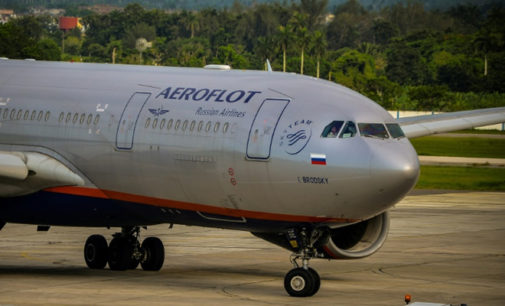 Aeroflot suspende venda de passagens à Turquia