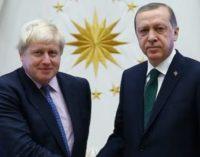 Boris Johnson promete ajuda à Turquia para se juntar à União Europeia
