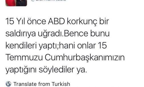 Conselheiro de Erdogan: EUA encenaram 11 de setembro