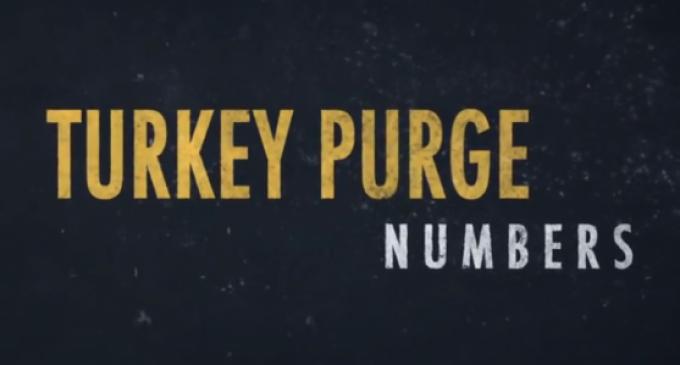 Escala sem precedentes de Expurgo da Turquia em Números