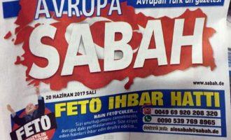 Jornal pró-governo da Turquia cria linha para se denunciar seguidores de Gulen em países da UE