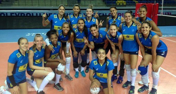 Seleção feminina de vôlei vence Turquia em preparação para o Grand Prix
