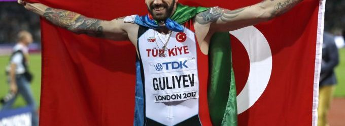 Tatuado, naturalizado e veloz: turco Ramil Guliyev campeão dos 200m quer reconhecimento