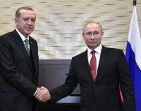 Putin promete maior cooperação com a Turquia para um cessar-fogo na Síria