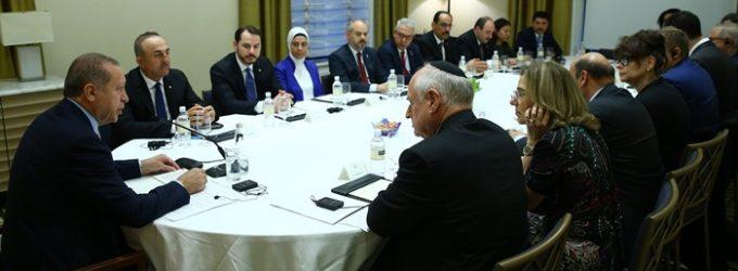 Erdogan tem reunião a portas fechadas com representantes dos judeus americanos