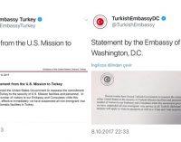 EUA e Turquia suspendem mutuamente todos os serviços de visto para não-imigrantes