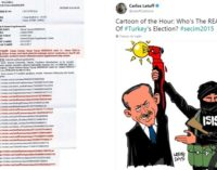 Advogados de Erdogan pedem ao Twitter que censure 11 caricaturas de Carlos Latuff