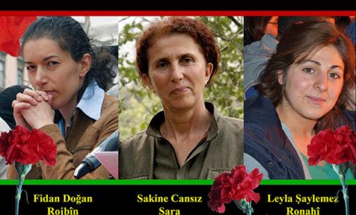 """Milhares de curdos reclamam """"verdade"""" e """"justiça"""" em Paris"""