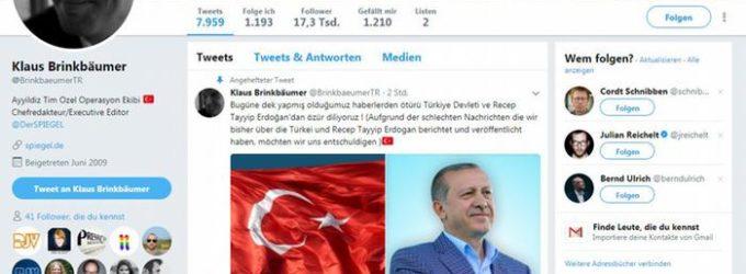 Conta no Twitter da Der Spiegel foi hackeada e postou mensagem pró-Turquia