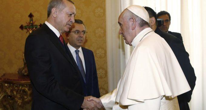 Papa recebe presidente turco para discutir status de Jerusalém