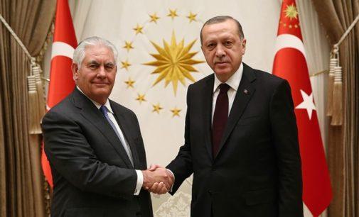 Erdogan descreve 'explicitamente' as prioridades da Turquia na reunião com Tillerson