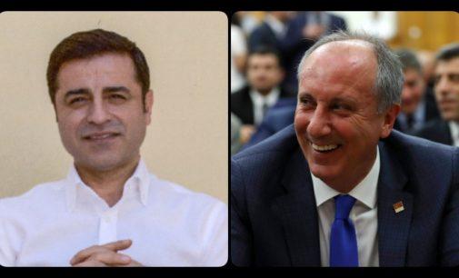 Ince, candidato presidencial do CHP, visita rival Demirtas na prisão