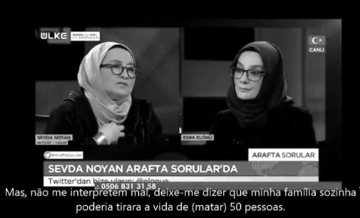 Escritora turca fala em matar 50 pessoas