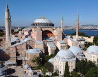 Turquia debate uso da icônica Basílica de Santa Sofia