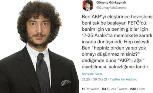 O advogado do Twitter na Turquia tuita discurso de ódio contra o movimento Hizmet